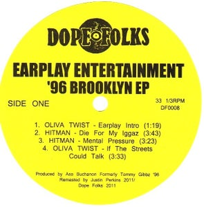 Image of EARPLAY ENTERTAINMENT '96 BROOKLYN EP ***SOLD OUT***