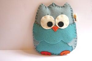 Image of Baby Owl Rattles / Wool Felt