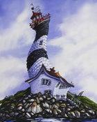 Image of Race Rocks Lighthouse 8x10 Block Mounted Print