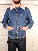 Image of Wangler Sherpa Lined Denim Jacket