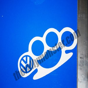 Image of VW Brass Knuckles Sticker
