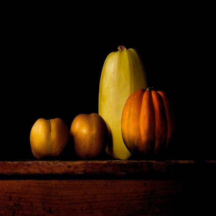 Image of Spaghetti squash, Acorn squash, Asian pears