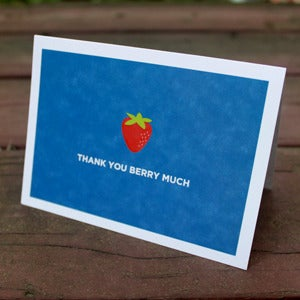Image of Thank You Berry Much Stationery