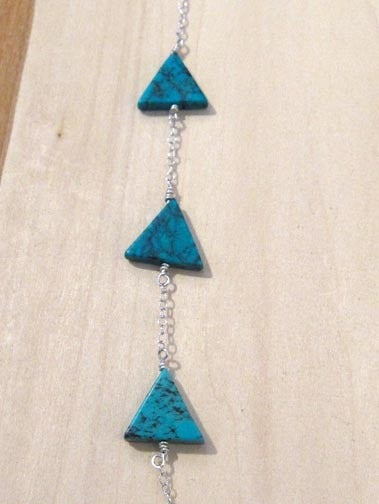Image of EQUILATERAL TRIANGLE TURQUOISE necklace