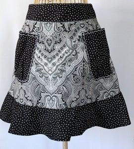 Image of Half Apron {Black & White}