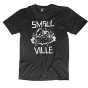 Image of Smallville Shirt Logo- dark heather grey/ white
