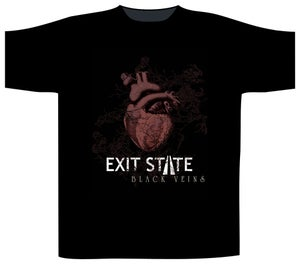 """Image of Exit State """"Black Veins"""" T-shirt"""