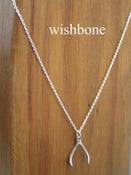 Image of wishbone necklace