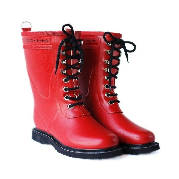 Image of Ilse Jacobsen Rubber Boots - Mid Calf, Red