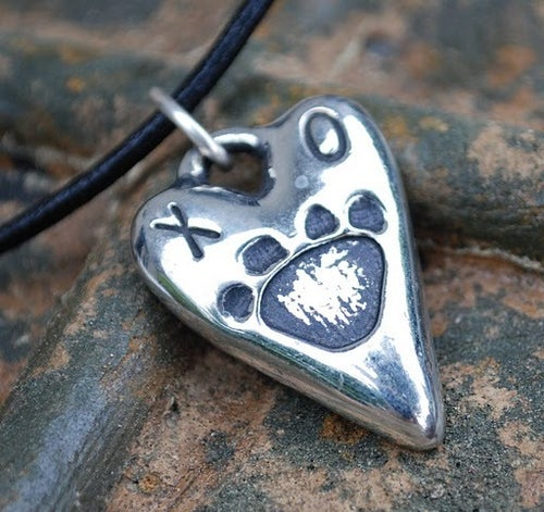 "Image of For You and Your DOG!  ""Rescued & Loved"" Pewter charm!"
