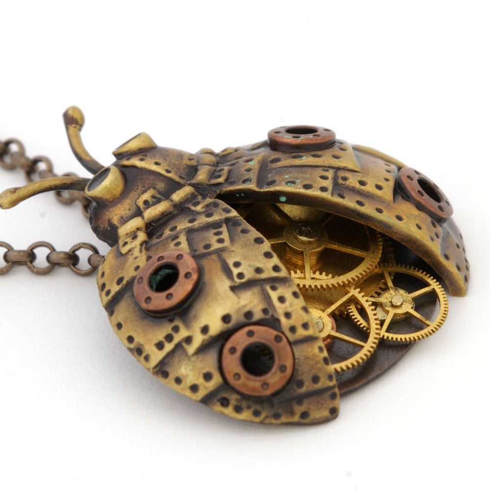 Image of Steampunk Ladybug Brass