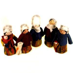 Image of Large felt dolls