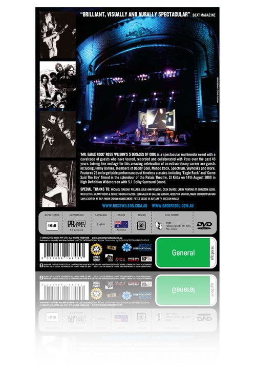 Image of Ross Wilson Live at the Palais Theatre DVD 2009