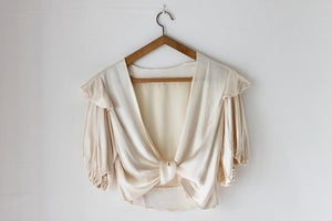 Image of NEW! 1930s silk satin jacket {SOLD}