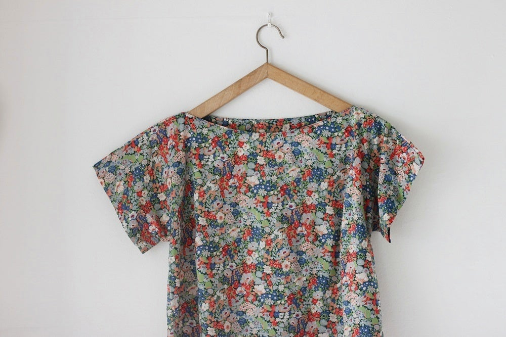 Image of NEW! 1950s Liberty print blouse {SOLD}