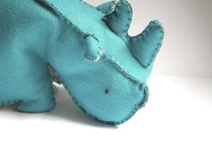 Image of Wool Felt Rhino Plush Toy