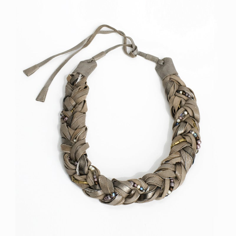 Image of braided glory necklace