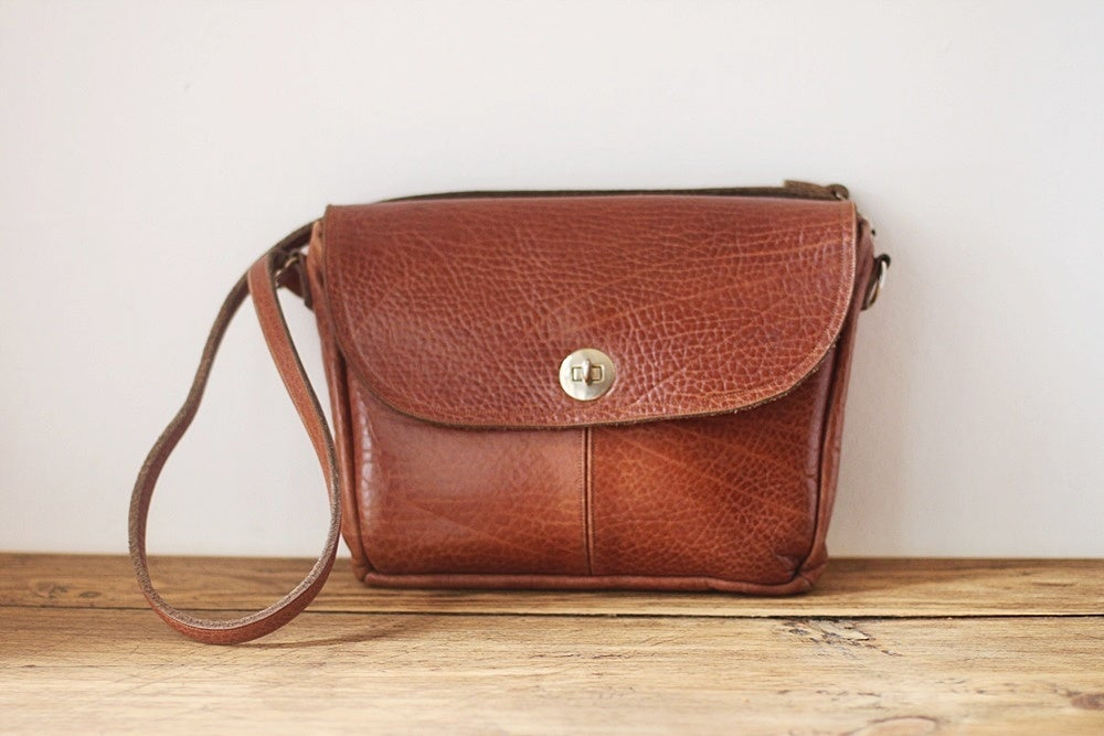 Image of NEW! 1970s leather satchel bag {SOLD}