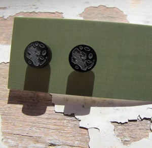 Image of Laser etched black acrylic stud earrings