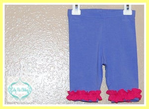 Image of Lily Pants - Purple with dark pink ruffle! Size 2T - Eisley Rae