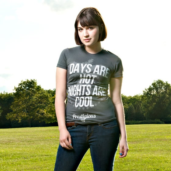 Image of Days Are Hot Nights Are Cool Women's Charcoal 100% Cotton American Apparel Tee Shi