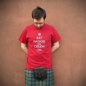 Image of Eat Haggis (T-shirt red)
