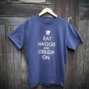 Image of Eat Haggis (T-shirt - navy)