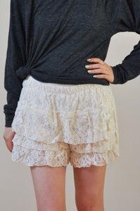 Image of Feminie Lace Overlay Shorts