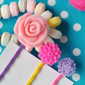 Image of rose - set of 3 hair pins