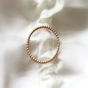 Image of One 14k ROSE gold beaded/ dotted band - wedding rings, stack rings