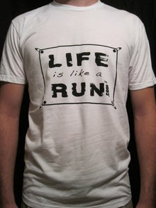 Image of Men's White T with Black Logo