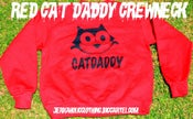 Image of Red CATDADDY CREWNECK