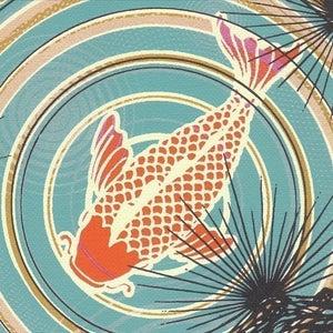 Image of koi Pond print