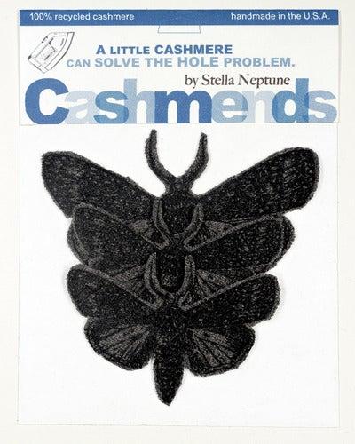 Image of Iron-on Cashmere Moths - Dark Grey