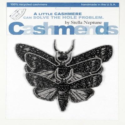 Image of Iron-on Cashmere Moths - Light Grey