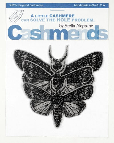 Image of Iron-on Cashmere Moths - Light Grey