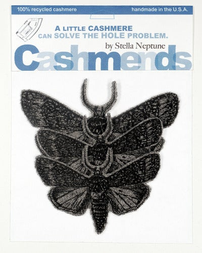 Image of Iron-on Cashmere Moths - Medium Grey