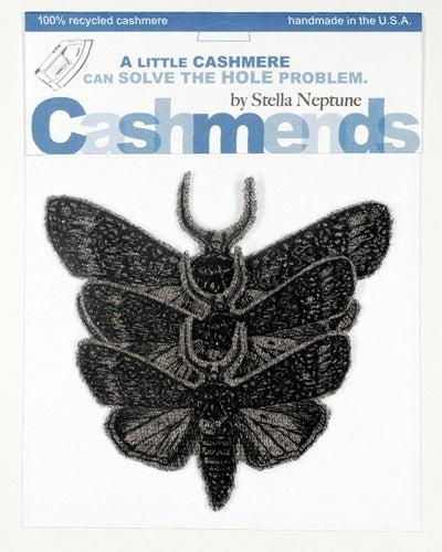 Image of Iron-on Cashmere Moths - Medium Grey