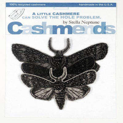 Image of Iron-on Cashmere Moths - Triple Grey