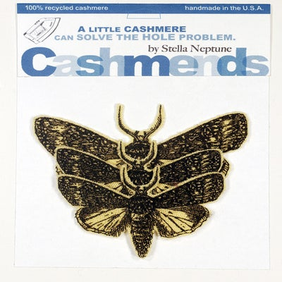 Image of Iron-on Cashmere Moths -  Classic Yellow
