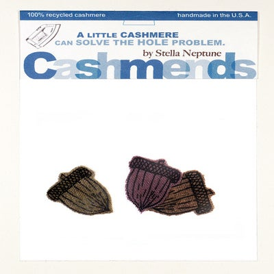 Image of Iron-on Cashmere Acorns - Late Autumn