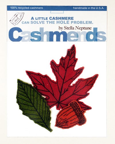 Image of Iron-on Cashmere Leaves - Brilliant Autumn