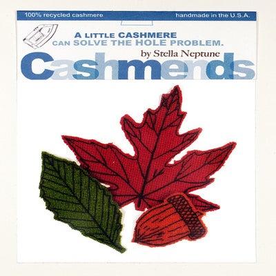 Image of Iron-on Cashmere Leaves - Brilliant Autumn