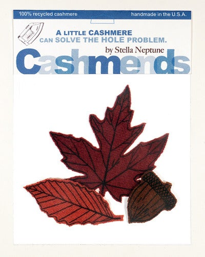 Image of Iron-on Cashmere Leaves - Burnt Autumn
