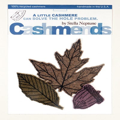 Image of Iron-on Cashmere Leaves - Late Autumn