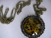 Image of Leopard Print Brooch Style Necklace