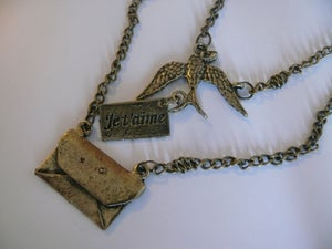 Image of Je t'aime Swallow Pendant