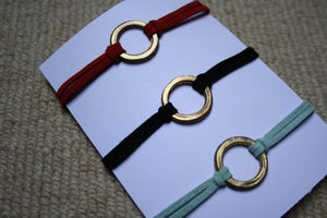 Image of 'Karma' Bracelet on Faux Suede