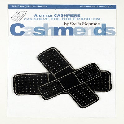 Image of Iron-on Cashmere Band-Aids - Black