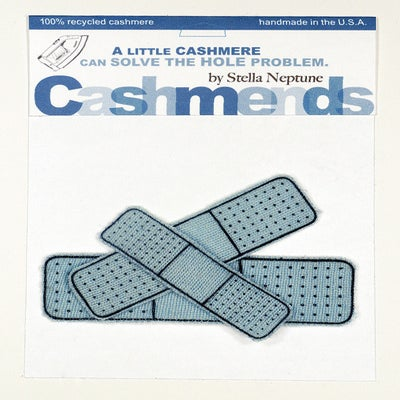 Image of Iron-on Cashmere Band-Aids - Light Blue